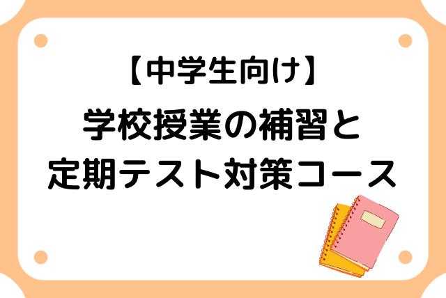 【中学生向け】学校授業の補習と定期テストへの対策コース
