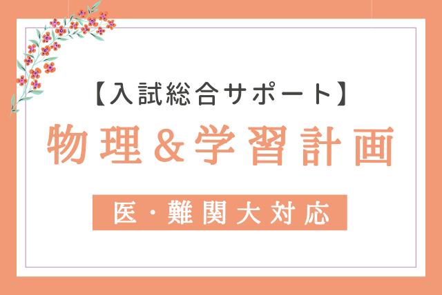【入試総合サポート!】医・難関大も対応 物理強化&学習計画最適化コース