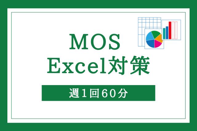 【資格取得】MOS Excel 対策【週1回60分】