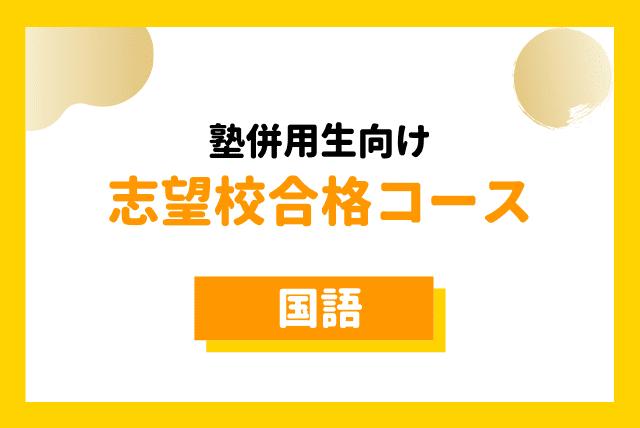 【中学受験生】塾併用生用:志望校合格への国語(週1回60分)