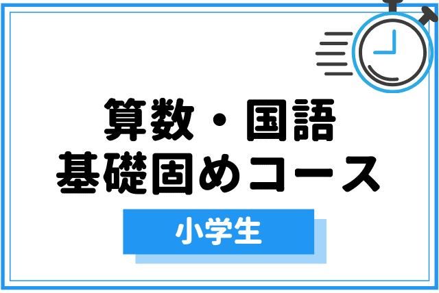 【算数・国語】小学生向け基礎固めコース