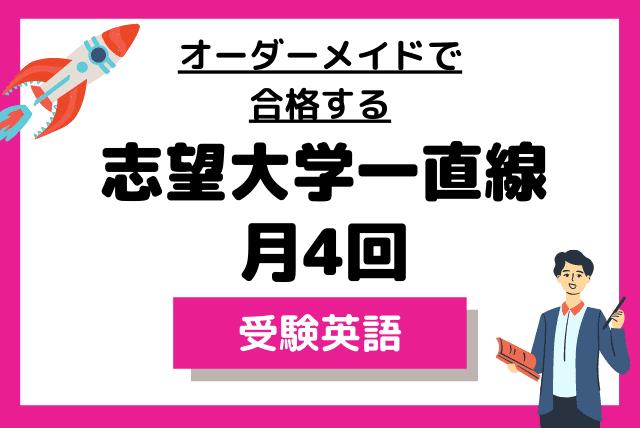 【大学受験】完全オーダーメイドカリキュラム コース(月4回)