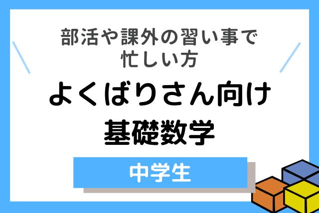 【中学生】 よくばりさん向け 基礎数学
