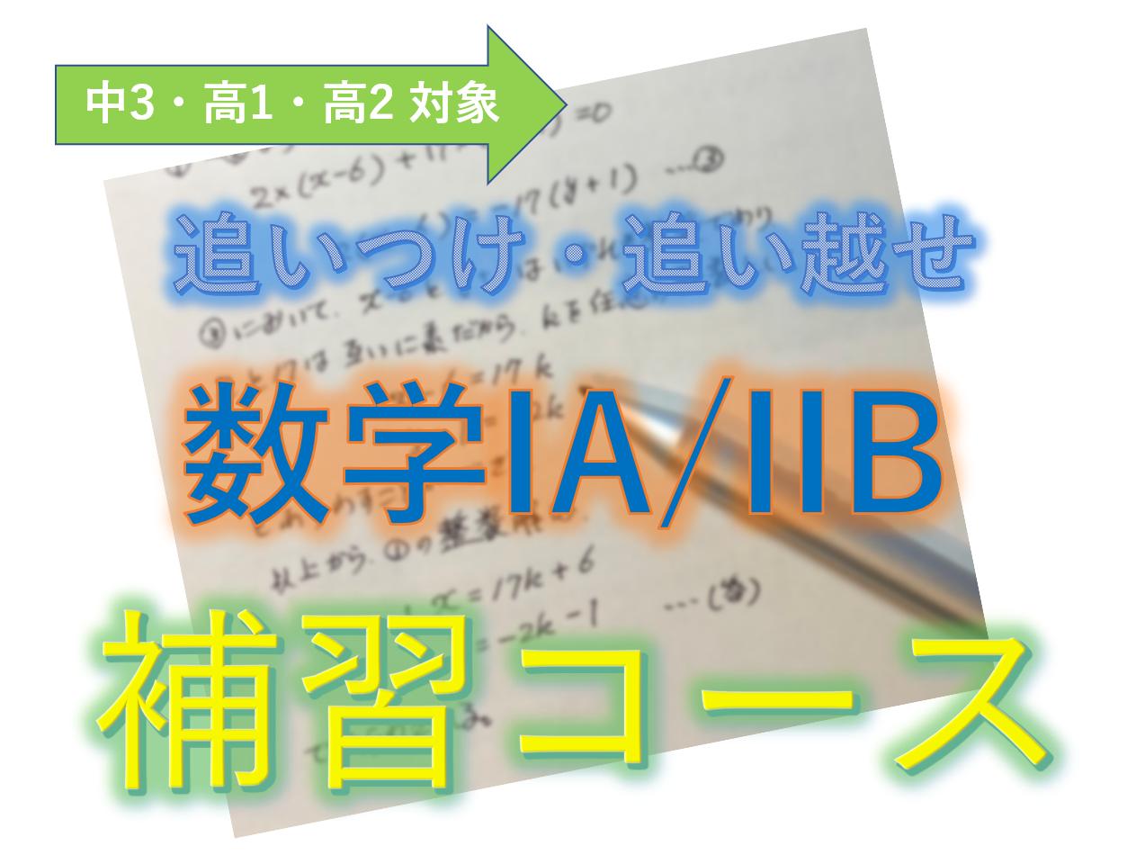 追いつけ追い越せ 高校数学IA/IIB 補習コース